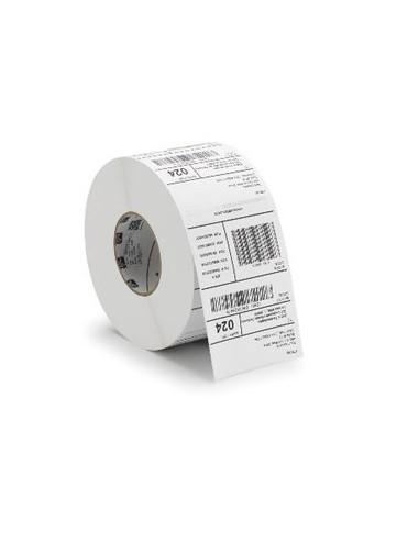 1 3000 Etiquettes adhésives 50 x 25mm Polyéthylène blanc Permanent MØ76m