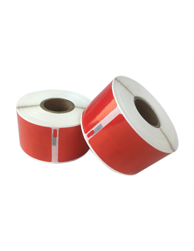 Étiquettes Dymo Compatibles 99012 rouge - 89 x 36mm