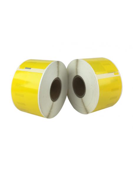 Étiquettes Dymo Compatibles 99012 jaune - 89 x 36mm