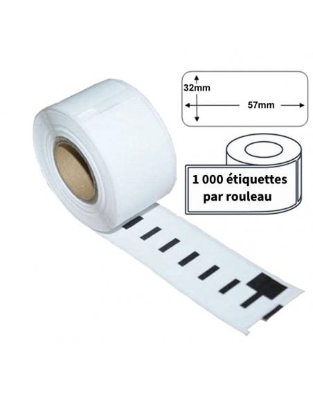 Étiquettes Compatibles Dymo 11354 - 57 x 32mm