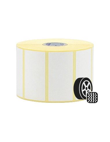 1 500 Etiquettes 100 x 150mm - Papier blanc brillant - adhésif pneu-Ø25 (en 2 rlx)