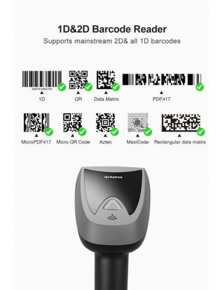 2 Douchette Code-Barre 1D & 2D sans-fil et avec base intelligente