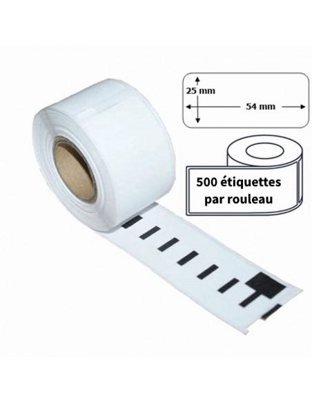 2 Étiquettes Dymo Compatibles 11352 - 54 x 25mm