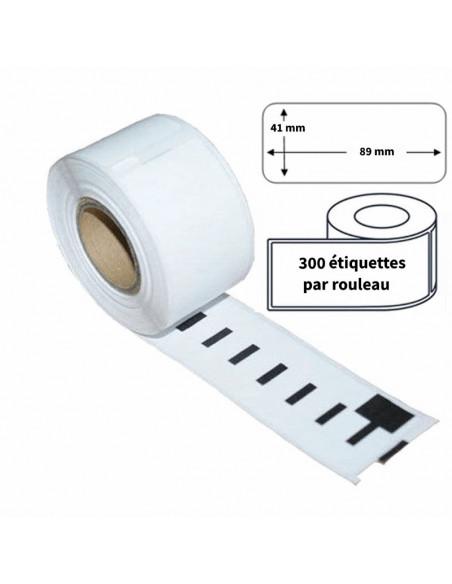 2 Étiquettes Dymo Compatibles 11356 - 89 x 41mm