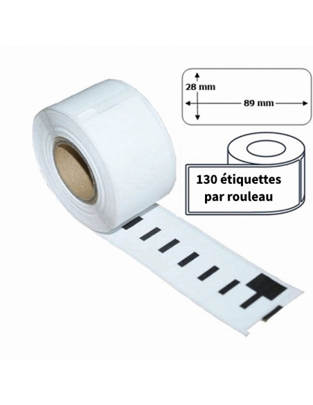 2 Étiquettes Dymo Compatibles 99010 - 89 x 28mm