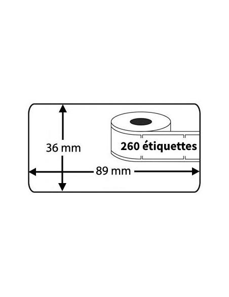2 Étiquettes Dymo Compatibles 99012 - 89 x 36mm
