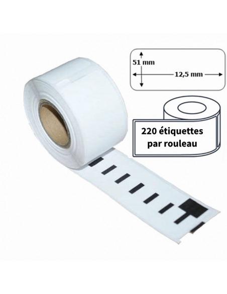 2 Étiquettes Dymo Compatibles 99017 - 50 x 12mm
