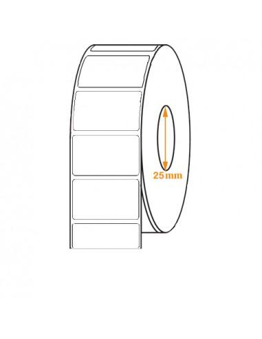 1 2 500 étiquettes adhésives 50 x 18mm - Papier Amovible -Ø25