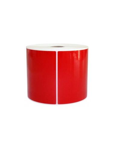 1 3000 ETIQUETTES ADHÉSIVES VINYL ROUGE (PVC) 50X25MM -MANDRIN 25