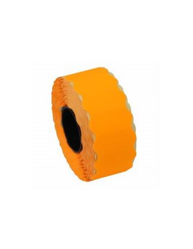 1 Etiquettes prix 22 x 12 Orange Fluo - Boite de 42 rouleaux