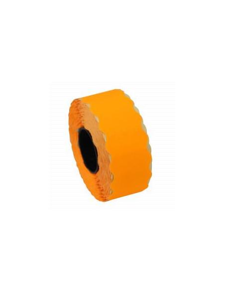 1 Etiquettes prix 32 x 19 Orange FLUO - Boite de 30 rouleaux