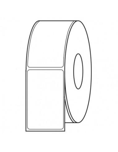 1 1000 étiquettes 100x100mm - Mandrin Ø76 - PVC Blanc