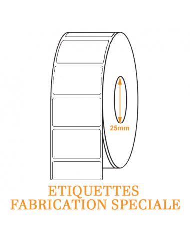 1 1200 étiquettes Ø65mm - Papier Couché C2075 - Ø25