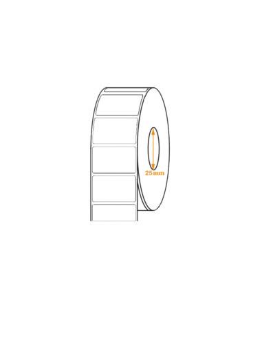 1 2 000 étiquettes thermique amovible - 55 x 30mm - Mandrin 25mm