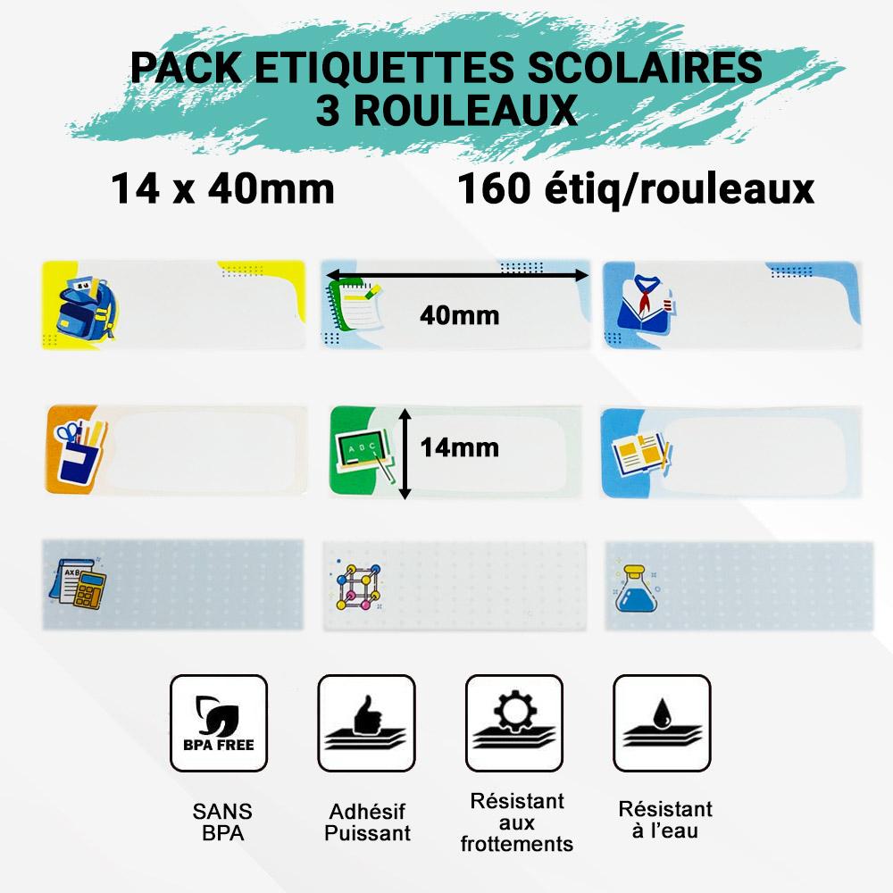 pack étiquettes scolaires pour imprimante Pocket